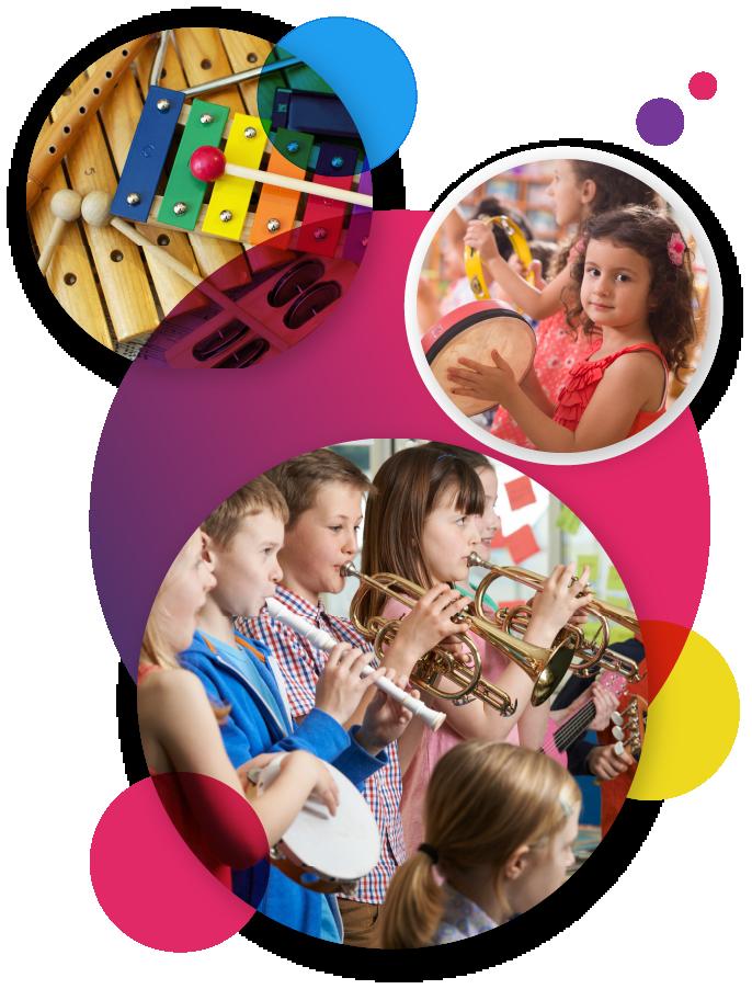 Samen met je vrienden en vriendinnen muziekles krijgen!